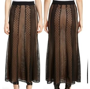 Alexander McQueen crochet panel maxi skirt